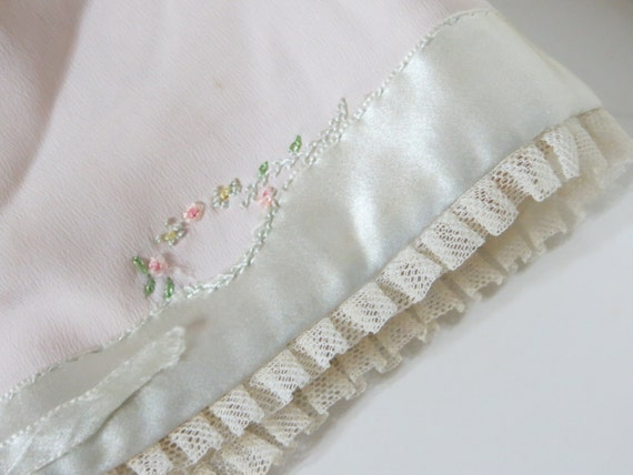 Antique Silk Baby Coat and Bonnet-Embroidered-GORGEOUS-Layette-Newborn-Silk Ribbons