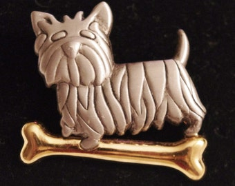 Vintage - Doggy and Bone - Brooch Pin