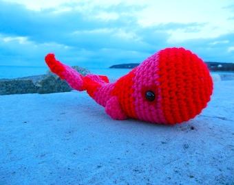 Lovestruck Woolie Whale Hand Crocheted Plush