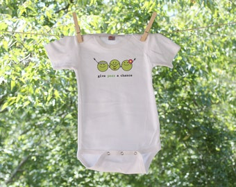 Give Peas A Chance // Humorous // Infant Bodysuit