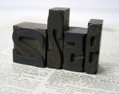 Antique Letterpress Wood Type Printers Block Numbers 2 2 5 9