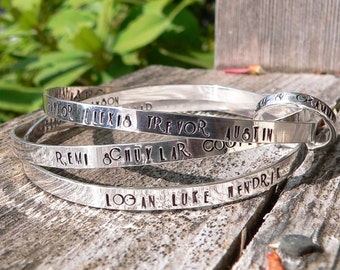 Birth Designs -Heirloom Solid Sterling Family Tree Bangle