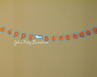Finding Nemo Happy Birthday Banner