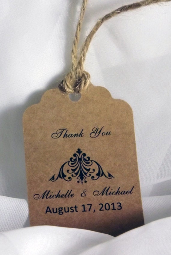 Rustic Wedding Gift Tags : Wedding Favor TagRustic Favor TagPersonalized Gift Tag