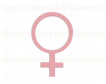 Female Symbol Embroidery Design Instant Download