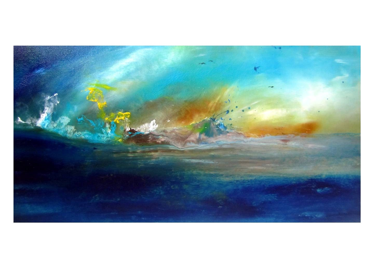 Abstract Ocean Art. Giclee Print on Fine Art by ...