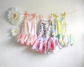 Shabby Chic Toddler Dress Children's Clothing Woodland Fairy Dress Flower Girl Floral Sundress Baby Clothes 12M 18M 1T - 6T 'CHRISSY'