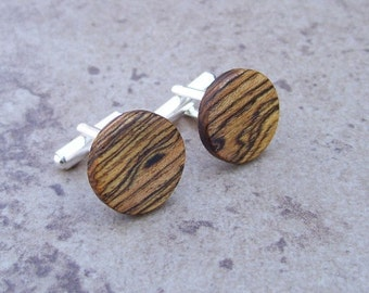 Bocote Wood Cufflinks - The Perfect Birthday, Anniversary, Weding, Graduation, And Bosses Gifts.