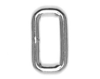 "1"" Square Ring, Quantity 25, 4.5 mm Welded Steel, Nickel Finish"