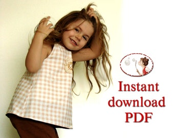Pdf sewing pattern - Reversible Play Frock