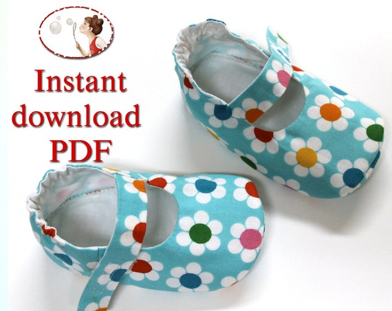 Instant download Sewing Pattern. Baby Lilly shoes. PDF. DIY. Sewing Tutorial.