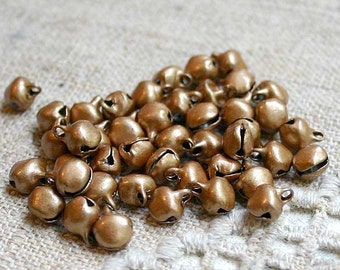 100pcs Jingle Bell Mix Charms Jewel Copper Steel 6mm Christmas Decor