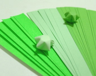 Summer Bliss - Dewy Green Origami Lucky Star Paper Strips - pack of 90 strips