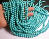 Howlite turquoise -  8mm beads -1  full strand -  52 pcs - NRG121