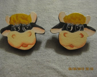 CLEARANCE SALE: Moo Cow Earrings