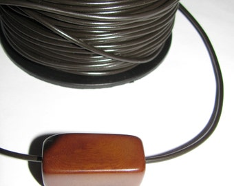 2mm Brown Pleather, Stringing Material, 5 Yards, EcoBeads