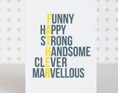 Marvellous Dad - Birthday / Fathers Day Card