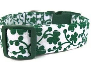 St. Patrick's Day Dog Collar - Shamrock Vines