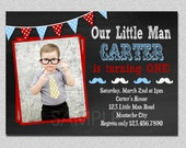 Little Man Birthday Invitation Little Man Mustache 1st Birthday Party Invitation Printable