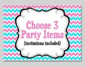 Party Package - Custom Party Package Choose Any 3 Items