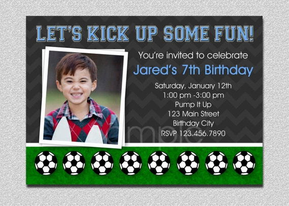 Soccer Birthday Invitation Soccer Birthday Party Invitation – Pump It Up Party Invitations