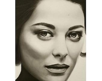A Mark Of Beauty - Marion Cotillard - ART PRINT - 8 x 10 - By Mixed Media Artist Malinda Prudhomme