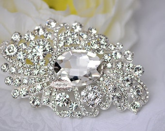 Rhinestone Brooch Jewelry Supply Pin Wedding Bridal Crystal Pin RD 270
