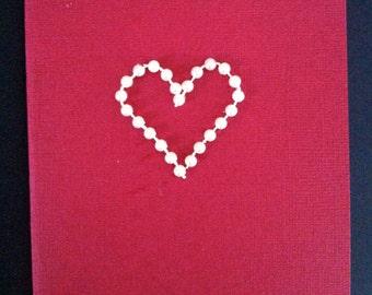 Pearl Heart Card