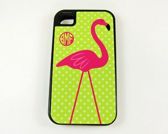 iPhone 4, 4S or 5 TOUGH Case, Flamingo iPhone Case,  Rubber Insert, Summer iPhone Case, Beach, Lilly Colors