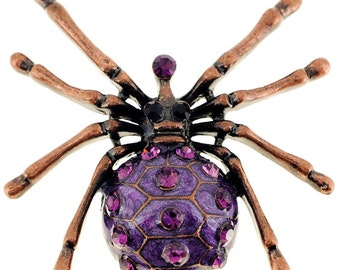 Amethyst Spider Pin Brooch 1001751