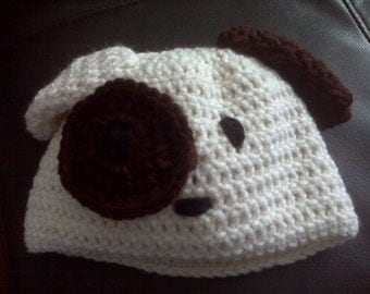 Crochete Puppy hat and diaper cover set