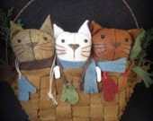 Three Little Kittens E-PATTERN Storybook Ornament Collection by cheswickcompany