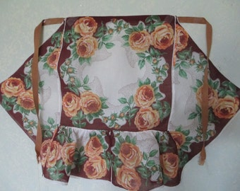 Vintage 1950's Hand Made Child's or Petite Woman's Handkerchief Apron