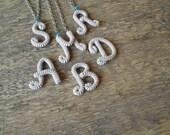 Personalized Bridesmaid Necklaces - Custom Bridesmaids Set of 5 or 6 Bridal Party Favor