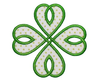 """Celtic Knot Machine Embroidery Design Applique Patterns 2 edge variations in 4 sizes each 3"""", 4"""", 5"""", 6"""""""