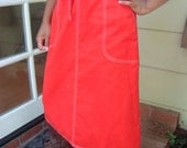 Valentine's Day Red Wrap Vintage Skirt