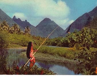The Valley, Tahiti - Vintage International Postcards