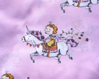Crafty Chloe Heather Ross Unicorn Girl pink FQ or more OOP HTF
