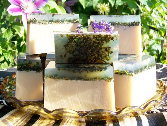 Chamomile & Lavender Herbal Quintet Butter Soap 6 oz. Bar