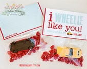 I WHEELIE Like You - Valentine's Day - DIGITAL FILE - Cards for your candy and cookies