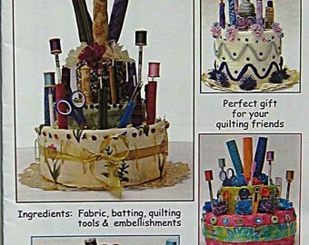 Kwilt Kakes Pattern AA-10, Create Fabric Cake and Cupcake Gifts for Your Quilting and Sewing Friends