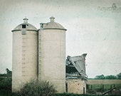 Door County, Wisconsin, Silos, Farming, Ruins, Harvest, Antiqued, Green, Office Art, Margaret Dukeman, Fine Art Photography
