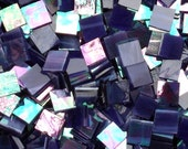 """100 1/2"""" Purple Wispy Iridescent Stained Glass Mosaic Tiles"""