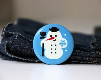 Vintage pin, the Snowman, made in USSR 70s