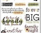 Family Rub-ons Scrapbooking Crafts Cards SBC