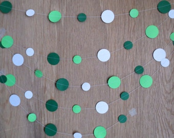 Circle Paper Garland - Great for Graduation Party Decorations, Weddings, Baby Showers, and Team Colors