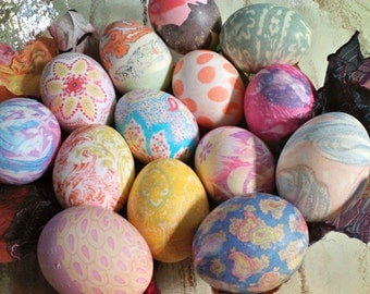Easter Egg Silk Dye Kit- Eco Friendly Up-cycled kid friendly DIY Gift FAMILY SIZE- 18 piece