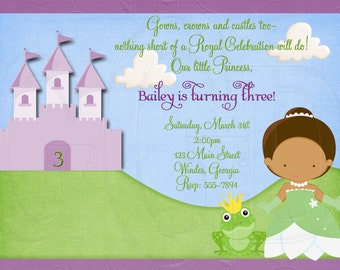 Princess and the Frog Invitation-Digital File