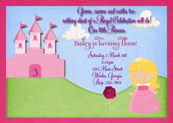 Sleeping Beauty  Inspired Birthday Invitation-Digital File