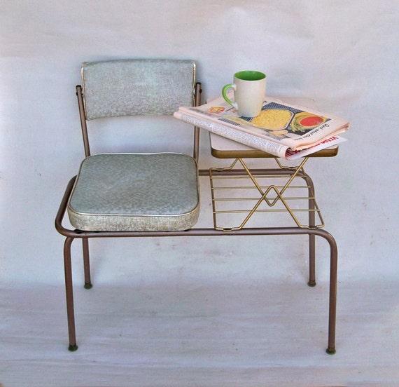 1950s Joel Flex Gossip Bench Telephone Table